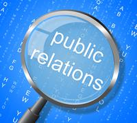 public relations indicating promotion promoting and promotional - stock illustration