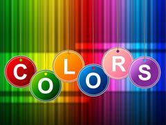 Stock Illustration of color paint representing colour painter and multicoloured