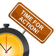 Stock Illustration of time for action indicating activism activist and active