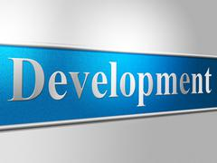 development develop showing enlargement growth and developing - stock illustration
