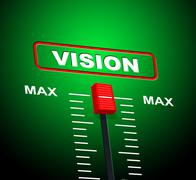 Vision max indicating upper limit and aim Stock Illustration