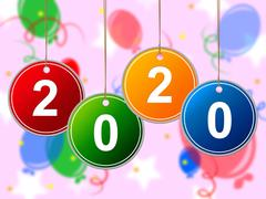New year indicating party parties and partying Stock Illustration