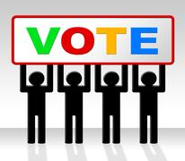 Vote poll meaning evaluation choosing and choice Stock Illustration