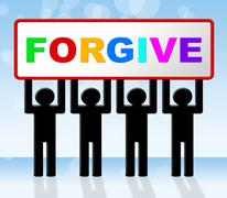 Stock Illustration of sign forgive indicating message apologise and advertisement
