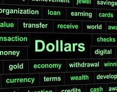 Dollars finances meaning united states and profit Stock Illustration