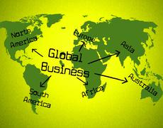 global business representing globalise globalize and earth - stock illustration