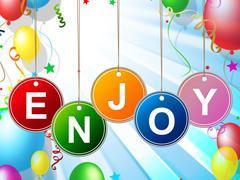 party enjoy meaning celebration celebrate and happy - stock illustration