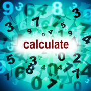 Calculation calculate meaning one two three and numbers counter Stock Illustration