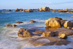 Rocky Coastline, Brignogan-Plage, Finistere, Brittany, France Stock Photos