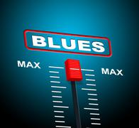Blues music meaning sound track and soundtrack Stock Illustration