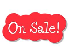 Stock Illustration of on sale meaning promotional promo and reduction