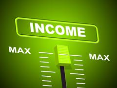 income max meaning upper limit and wages - stock illustration