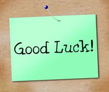 good luck representing lucky sign and display - stock illustration