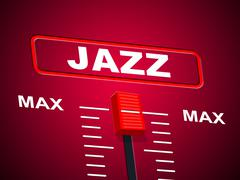 Music jazz showing acoustic soundtrack and audio Stock Illustration