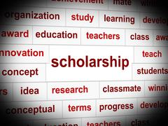Education scholarship meaning studying school and academy Stock Illustration