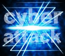 cyber attack representing world wide web and illegal act - stock illustration