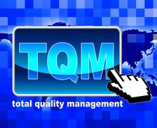 Stock Illustration of total quality management representing net administration and satisfaction