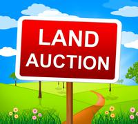 Stock Illustration of land auction representing building plot and bidding