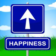 Stock Illustration of happiness sign meaning joy message and fun