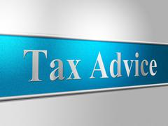 Stock Illustration of tax advice representing taxes answer and irs