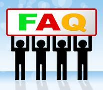 frequently asked questions representing answer asking and faq - stock illustration