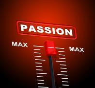 passion max meaning sexual desire and top - stock illustration