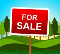 For sale meaning real estate agent and market value Stock Illustration