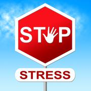 Stock Illustration of stress stop meaning warning sign and prohibited