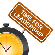 Stock Illustration of time for leadership showing guidance control and manage