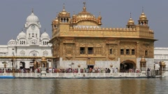 Golden Temple in Amritsar, Punjab, India. Stock Footage