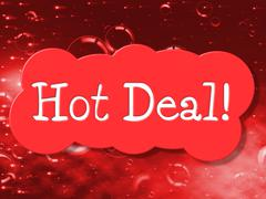 Hot deal showing best price and bargain Stock Illustration