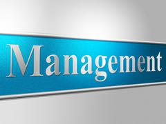 manage management showing authority business and bosses - stock illustration