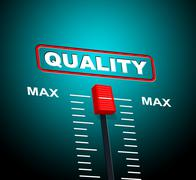 Max quality representing excellent approved and maximum Stock Illustration