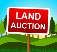 Land auction representing winning bid and bids Stock Illustration