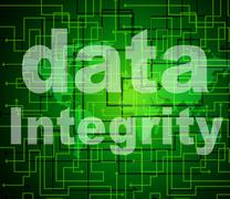 Stock Illustration of data integrity indicating knowledge truthfulness and reliable