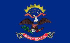 Flag of north dakota Stock Illustration