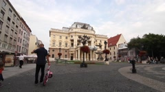 View at the Slovak National Theatre in Bratislava Stock Footage