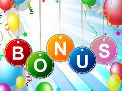 Stock Illustration of reward bonus indicating for free and gratis