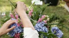 Create festive bouquet Stock Footage