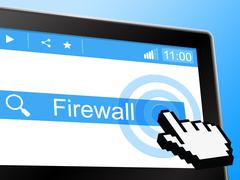 online firewall meaning world wide web and no access - stock illustration