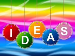 Stock Illustration of ideas kids showing creativity conception and children