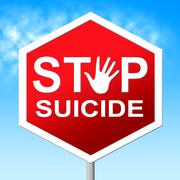 Suicide stop showing taking your life and kill myself Stock Illustration