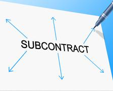 Subcontract subcontracting showing independent contractor and work Stock Illustration