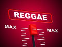 reggae music indicating upper limit and peak - stock illustration