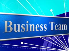 Business team meaning cooperation commerce and group Stock Illustration