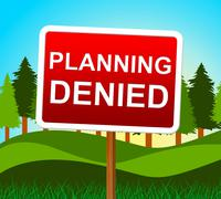 Planning denied showing target rejection and aspirations Stock Illustration