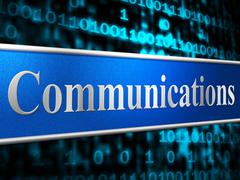 Stock Illustration of communication network representing web global and keyboard