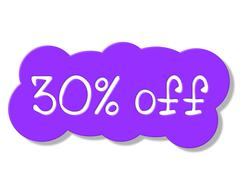 Stock Illustration of thirty percent off meaning merchandise promo and promotional