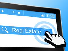 Stock Illustration of real estate representing world wide web and property
