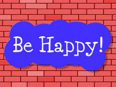 Be happy representing display joyful and happiness Piirros